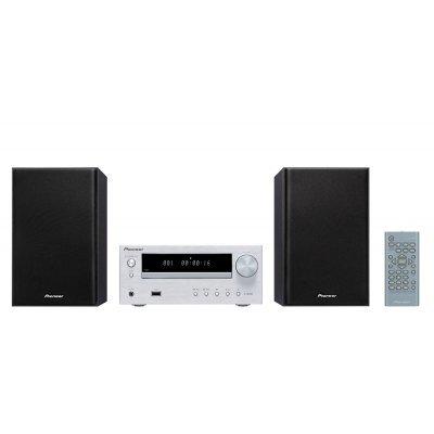 Аудио микросистема Pioneer X-HM16-S серебристый (X-HM16-S)Аудио микросистемы Pioneer<br>Микросистема Pioneer X-HM16-S серебристый 30Вт/CD/CDRW/FM/USB<br>