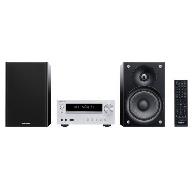 Аудио микросистема Pioneer X-HM51-S серебристый/черный (X-HM51-S)Аудио микросистемы Pioneer<br>Микросистема Pioneer X-HM51-S серебристый/черный 100Вт/CD/CDRW/FM/USB/BT<br>