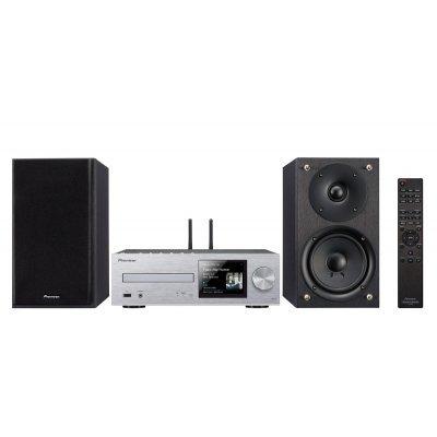 Аудио микросистема Pioneer X-HM76-S серебристый (X-HM76-S) микросистема pioneer x smc01bt k черный 20вт cd cdrw fm usb bt