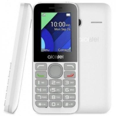 Мобильный телефон Alcatel 1054D белый (1054D-3BALRU1)Мобильные телефоны Alcatel<br>Мобильный телефон Alcatel 1054D белый моноблок 2Sim 1.8 128x160 0.3Mpix BT GSM900/1800 GSM1900<br>