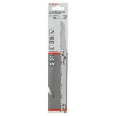Пилка для лобзика Bosch 2608650613 (2608650613)Пилки для лобзиков Bosch<br>Набор пилок по дереву Bosch S 1531 L 2пред. (сабельные пилы)<br>