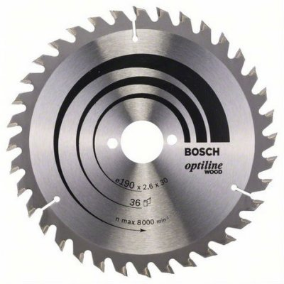 Пильный диск Bosch 2608640616 по дереву (2608640616)Пильные диски Bosch<br>Пильный диск по дереву Bosch 2608640616 d=190мм d(посад.)=30мм (циркулярные пилы)<br>