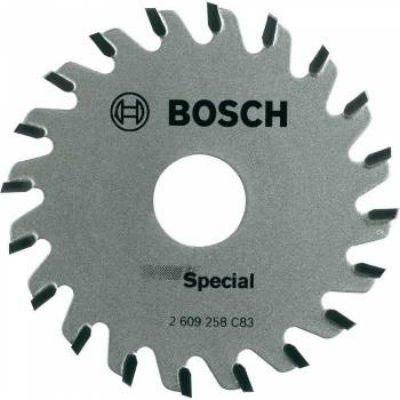 Пильный диск Bosch 2609256C83 по дереву (2609256C83)Пильные диски Bosch<br>Пильный диск по дереву Bosch 2609256C83 d=65мм d(посад.)=15мм (циркулярные пилы)<br>