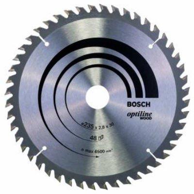 Пильный диск Bosch 2608640727 по дереву (2608640727)Пильные диски Bosch<br>Пильный диск по дереву Bosch 2608640727 d=235мм d(посад.)=30мм (циркулярные пилы)<br>