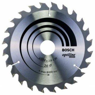 Пильный диск Bosch 2608640610 по дереву (2608640610)Пильные диски Bosch<br>Пильный диск по дереву Bosch 2608640610 d=184мм d(посад.)=30мм (циркулярные пилы)<br>