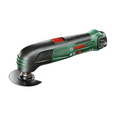 Шлифовальная машина Bosch PMF 10,8 Li 2.0Ah x1 Case (0603101925)Шлифовальные машины Bosch<br>Многофункциональный инструмент Bosch PMF 10.8 Li зеленый/черный<br>