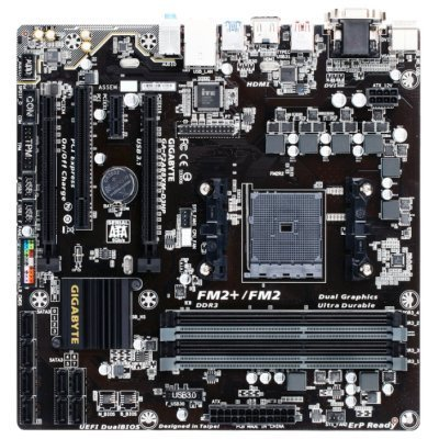 Материнская плата ПК Gigabyte GA-F2A88XM-D3HP (rev. 1.0) (GA-F2A88XM-D3HP)Материнские платы ПК Gigabyte<br>Материнская плата Gigabyte GA-F2A88XM-D3HP Soc-FM2+ AMD A88X 4xDDR3 mATX AC`97 8ch(7.1) GbLAN RAID RAID1 RAID5 RAID10+VGA+DVI+HDMI<br>