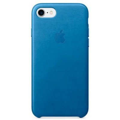 Чехол для смартфона Apple iPhone 7 Leather Case Sea Blue (MMY42ZM/A) аксессуар чехол apple iphone 8 7 leather case cosmos blue mqhf2zm a