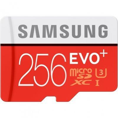 Карта памяти Samsung MB-MC256DA/RU (MB-MC256DA/RU)Карты памяти Samsung<br>Карта памяти MicroSDXC 256GB Samsung EVO Plus Class 10 / U1 (UHS-I) + SD адаптер (read speed up to 8<br>