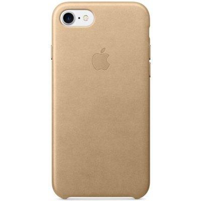 Чехол для смартфона Apple iPhone 7 Leather Case бежевый (MMY72ZM/A)Чехлы для смартфонов Apple<br>силиконовый чехол для iPhone 7, плотно прилегает к кнопкам громкости и режима сна, точно повторяет контуры смартфона, но при этом не делает его громоздким, мягкая подкладка из микроволокна защищает корпус iPhone<br>