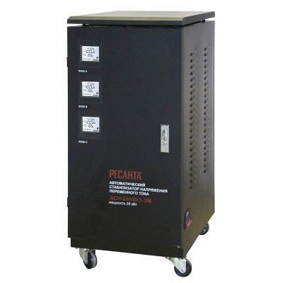 Стабилизатор Ресанта АСН-20000/3-ЭМ (63/4/6)Стабилизаторы Ресанта<br>Стабилизатор напряжения Ресанта АСН-20000/3-ЭМ электромеханический трехфазный черный<br>