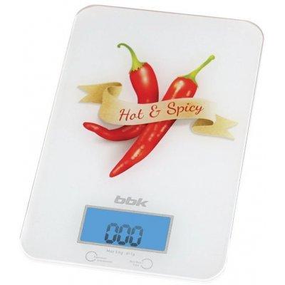 Весы кухонные BBK KS106G белый/красный (KS106G), арт: 253626 -  Весы кухонные BBK