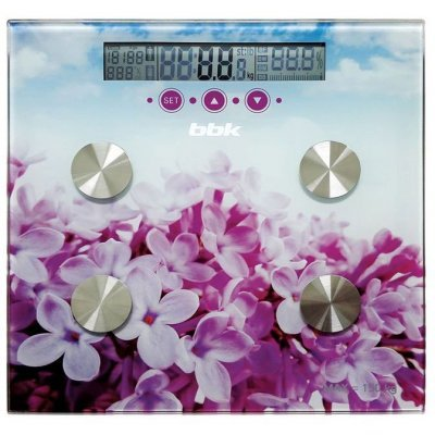 Весы BBK BCS7000 фиолетовый/розовый (BCS7000 violet/pink) весы bbk ks108g orange