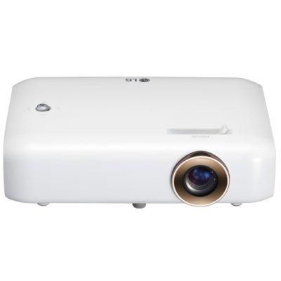 Проектор LG PH550G (PH550G.ARUZ)Проекторы LG<br>Проектор LG PH550G (DLP, LED, 720p 1280x720, 550Lm, 100000:1, HDMI, MHL, USB, 2x1W speaker, WiFi, Bluetooth, 3D Ready, led 30000hrs, battery, WHITE, 0.65kg)<br>