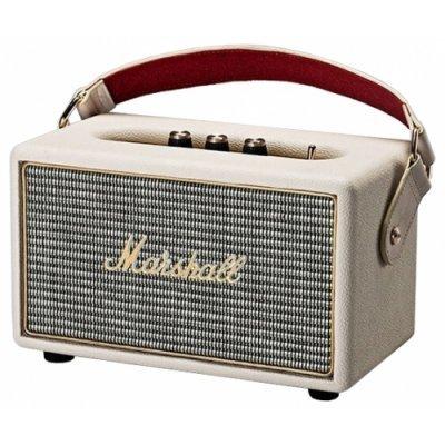 Портативная акустика Marshall Kilburn кремовый (04091190)Портативная акустика Marshall<br>портативная акустика 2.1<br>мощность 2x5 Вт<br>мощность сабвуфера 15 Вт<br>питание от сети, от батарей<br>линейный вход<br>Bluetooth<br>