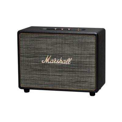 Портативная акустика Marshall Woburn черный (04090963)Портативная акустика Marshall<br>портативная акустика стерео<br>мощность 2x70 Вт<br>питание от сети<br>линейный вход<br>Bluetooth<br>