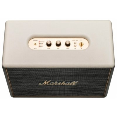 Портативная акустика Marshall Woburn кремовый (04090971)Портативная акустика Marshall<br>портативная акустика стерео<br>мощность 2x70 Вт<br>питание от сети<br>линейный вход<br>Bluetooth<br>