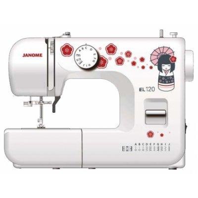 Швейная машина Janome EL120 белый/рисунок (EL120) швейная машина janome dresscode белый