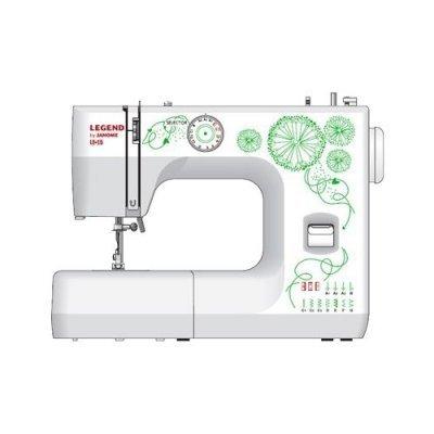 Швейная машина Janome Legend LE15 белый/цветы (LEGEND LE15) швейная машина janome dresscode белый