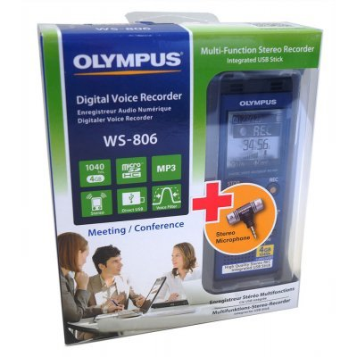 Цифровой диктофон Olympus WS-806+ME-51S 4Gb синий (WS-806+ME-51S) usb 2 0 male to lengthening micro usb male data sync charging cable green 300cm