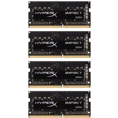 Модуль оперативной памяти ПК Kingston HX421S14IBK4/64 (HX421S14IBK4/64)Модули оперативной памяти ПК Kingston<br>Kingston 64GB 2133MHz DDR4 CL13 SODIMM (Kit of 4) HyperX Impact<br>