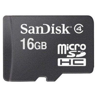 Карта памяти Sandisk SDSDQM-016G-B35 (SDSDQM-016G-B35)Карты памяти Sandisk<br>MEMORY MICRO SDHC 16GB CLASS4 SDSDQM-016G-B35 SANDISK<br>