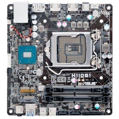 Материнская плата ПК ASUS H110S1 ( 90MB0R50-M0EAY0)Материнские платы ПК ASUS<br>материнская плата форм-фактора mini-STX<br>сокет LGA1151<br>чипсет Intel H110<br>2 слота DDR4 SO-DIMM, 2133 МГц<br>разъемы SATA: 6 Гбит/с - 2<br>