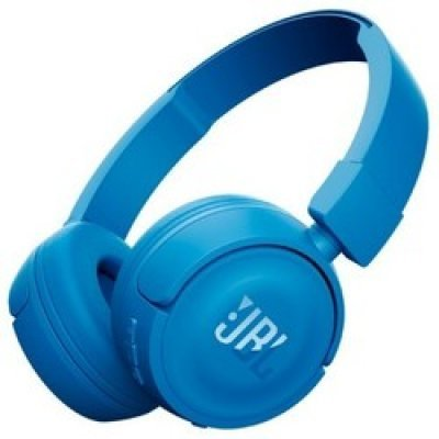 Bluetooth-гарнитура JBL T450BT синий (JBLT450BTBLU)Bluetooth-гарнитуры JBL<br>JBL T450BT - наушники беспроводные, есть возможность подключения через кабель, накладные, закрытые, Bluetooth 4.0, частотный диапазон 20 - 20000Гц, регулятор громкости, микрофон, импеданс 32Ом, 3.5 мм (mini jack), диаметр мембраны 32мм. Время непрерывной работы 11 ч, время заряда 2ч.<br>
