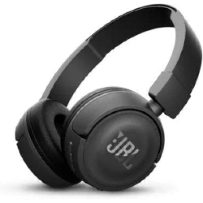 Bluetooth-гарнитура JBL T450BT черный (JBLT450BTBLK) наушники jbl t450bt blue