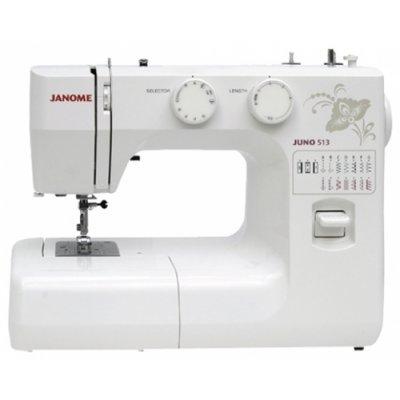 Швейная машина Janome Juno 513 белый/цветы (Juno 513 белый/цветы) швейная машина vlk napoli 2400