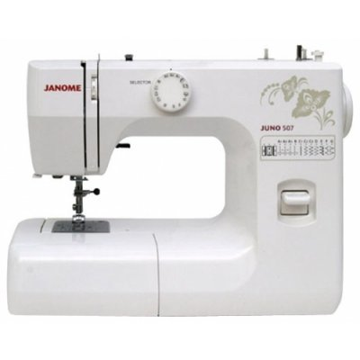 Швейная машина Janome Juno 507 белый/цветы (Juno 507 белый/цветы)