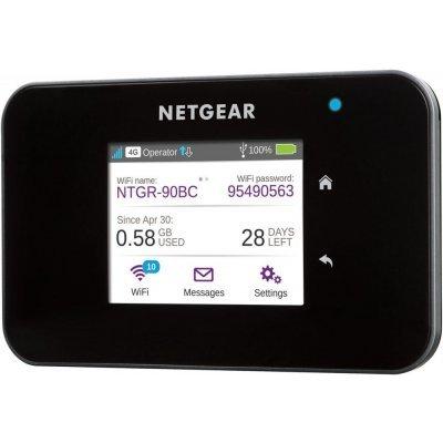 Маршрутизатор Netgear AC810-100EUS (AC810-100EUS)Wi-Fi роутеры Netgear<br>4G/Wi-Fi точка доступа, 802.11a/b/g/n/ac, MIMO, цветной сенсорный 2.4 дисплей, до 11 часов автономной работы, подключение до 15 беспроводных устройств, прием SMS<br>