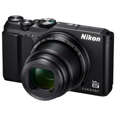 Цифровая фотокамера Nikon CoolPix A900 черный (VNA910E1)Цифровые фотокамеры Nikon<br>Фотоаппарат Nikon CoolPix A900 черный 20.3Mpix Zoom35x 2.7 720p 25Mb SDXC CCD 1x2.3 IS el 1minF/EN-EL19<br>