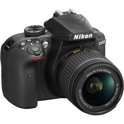 Цифровая фотокамера Nikon D3400 Kit 18-55 AF-P Black (VBA490K002) nikon d3400 kit 18 105 vr black