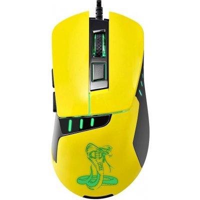 Мышь OKLICK 865G черный/желтый (368647) мышь oklick 105s черный hm 01
