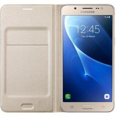 Чехол для смартфона Samsung для Galaxy J5 (2016) Flip Wallet золотистый (EF-WJ510PFEGRU) (EF-WJ510PFEGRU) чехол samsung ef wj710pfegru для samsung galaxy j7 2016 flip wallet золотистый