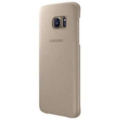Чехол для смартфона Samsung для Galaxy S7 edge Leather Cover бежевый (EF-VG935LUEGRU) (EF-VG935LUEGRU)Чехлы для смартфонов Samsung<br>Чехол (клип-кейс) Samsung для Samsung Galaxy S7 edge Leather Cover бежевый (EF-VG935LUEGRU)<br>