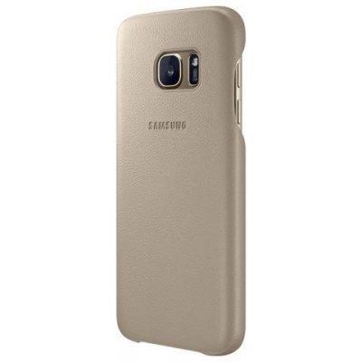 Чехол для смартфона Samsung для Galaxy S7 Leather Cover бежевый (EF-VG930LUEGRU) (EF-VG930LUEGRU)Чехлы для смартфонов Samsung<br>Чехол (клип-кейс) Samsung для Samsung Galaxy S7 Leather Cover бежевый (EF-VG930LUEGRU)<br>