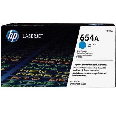 Тонер-картридж для лазерных аппаратов HP 654A Cyn (CF331AC)Тонер-картриджи для лазерных аппаратов HP<br>HP 654A голубой для HP Color LaserJet Enterprise M651n/M651dn/M651xh/M680dn/M680f/HP Color LaserJet Enterprise Flow M680z (15000стр.) (в технологической упаковке)<br>