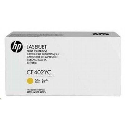 Тонер-картридж для лазерных аппаратов HP 507Y Yellow CE402YC (CE402YC)Тонер-картриджи для лазерных аппаратов HP<br>507Y Yellow Opt Contr LJ Toner Crtg<br>