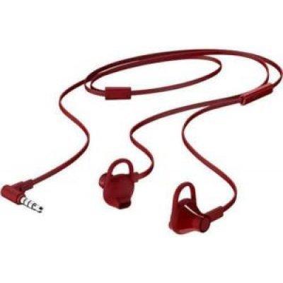 Наушники HP In-Ear Headset 150 красный (X7B11AA)Наушники HP<br>Наушники HP In-Ear Headset 150 красный<br>