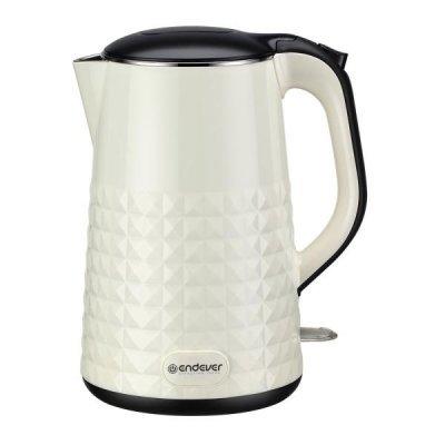 Электрический чайник Endever Skyline KR-238S бежевый (80162)Электрические чайники Endever<br>Чайник электрический Endever Skyline KR-238S, бежевый, емкость 1,7 л, стальной/пластиковый<br>