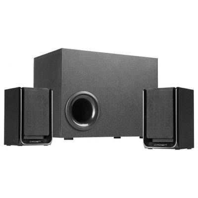 Компьютерная акустика Crown CMS-410 черный (CM000001459, CMS-410 Black) колонки crown cms 410 2x12вт 16вт черный