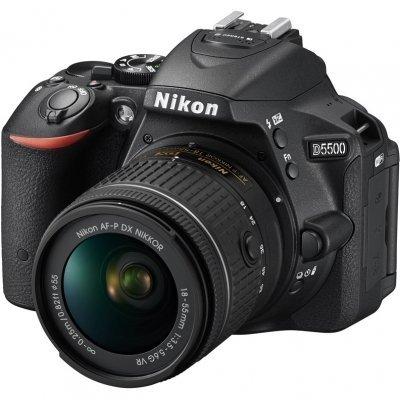 Цифровая фотокамера Nikon D5500 Kit 18-55 VR AF-P Black (D5500KIT18-55VR AF-P/Black)Цифровые фотокамеры Nikon<br>D5500 18-55mm f/3.5-5.6G AF-P DX VR, черный, 24Mpx CMOS, оптическая стаб. объектива, HD1080/60p, экран 3.2&amp;amp;#039;&amp;amp;#039;, сенсорный, Wi-fi, Li-ion, поворотный экран<br>
