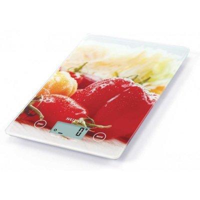 Весы кухонные Supra BSS-4201 красный (10364)Весы кухонные Supra<br>Весы кухонные электронные Supra BSS-4201 макс.вес:5кг красный<br>