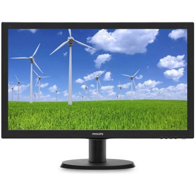 Монитор Philips 23,6 243S5LSB черный (243S5LSB/00)Мониторы Philips<br>23,6 Philips 243S5LSB 1920x1080 TN LED 16:9 5ms VGA DVI 10M:1 170/160 250cd Black<br>