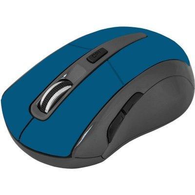 Мышь Defender Accura MM-965 blue USB (52967)Мыши Defender<br>оптическая, беспроводная (радиоканал), 1600 dpi, USB, цвет: синий<br>
