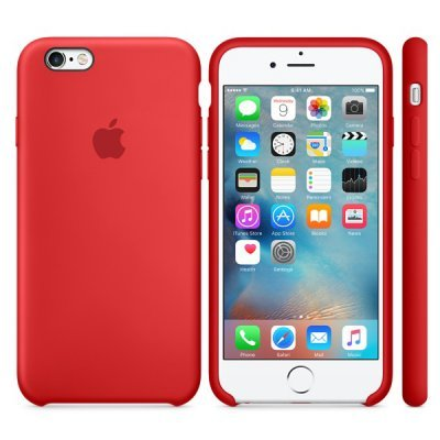 Чехол для смартфона Apple для iphone 6s Silicone Case red (MKY32ZM/A) чехол для apple iphone 6 iphone 6s leather case red
