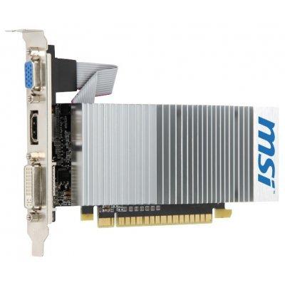 Видеокарта ПК MSI GeForce 210 589Mhz PCI-E 2.0 512Mb 1000Mhz 64 bit DVI HDMI HDCP TurboCache (N210-TC1GD3H/LP)Видеокарты ПК MSI<br>видеокарта NVIDIA GeForce 210<br>512 Мб видеопамяти GDDR3<br>частота ядра/памяти: 589/1000 МГц<br>разъемы DVI, HDMI, VGA<br>поддержка DirectX 10.1, OpenGL 3.1<br>пассивное охлаждение<br>работа с 2 мониторами<br>