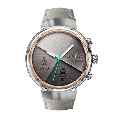 Умные часы ASUS ZenWatch 3 WI503Q серебристый (WI503Q-2LBGE0006) (WI503Q-2LBGE0006)Умные часы ASUS<br>Смарт-часы Asus ZenWatch 3 WI503Q 1.39 AMOLED серебристый (WI503Q-2LBGE0006)<br>